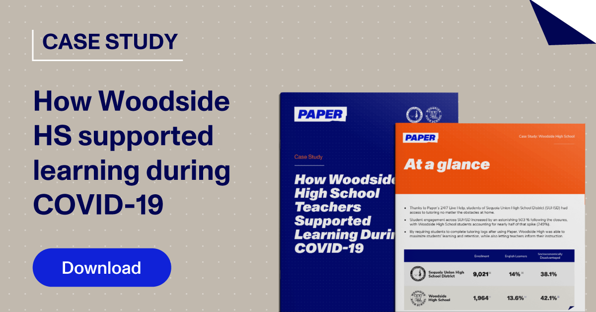 Thumbnail linking to Case Study - Woodside High School