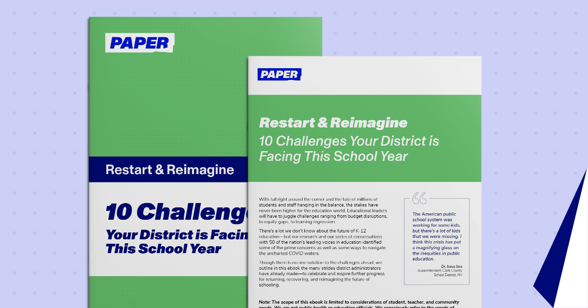 Cover of Ebook - 10 Challenges Facing Districts