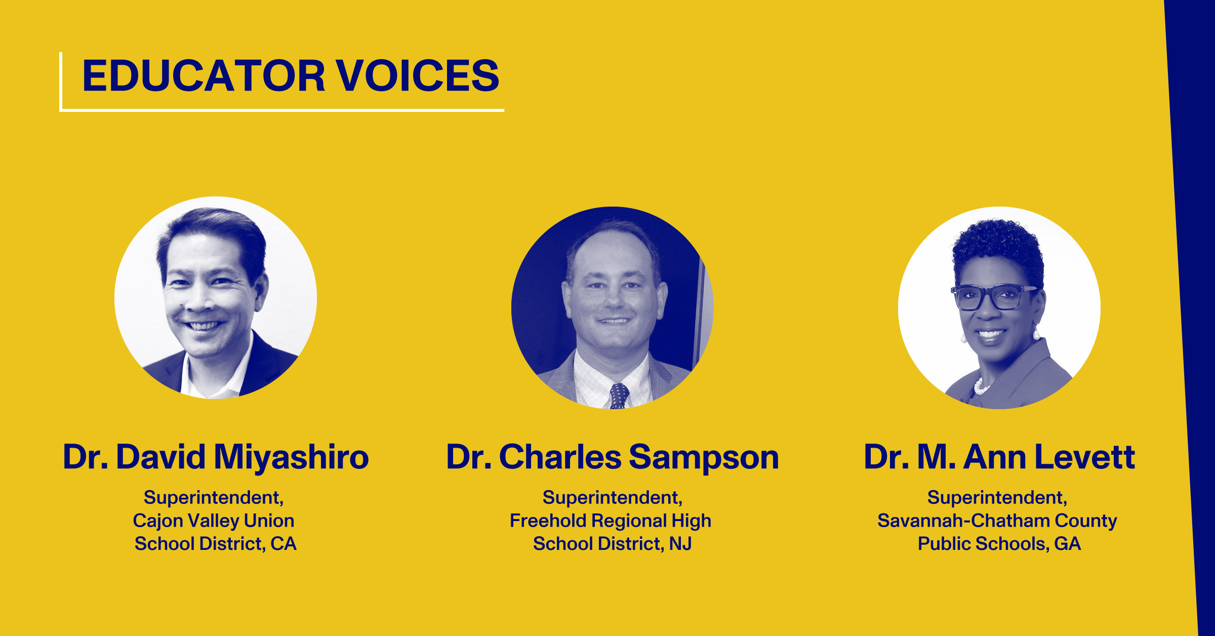 Blog Thumbnail with Headshots of Dr. David Miyashiro, Dr. Charles Sampson, Dr. M. Ann Levett