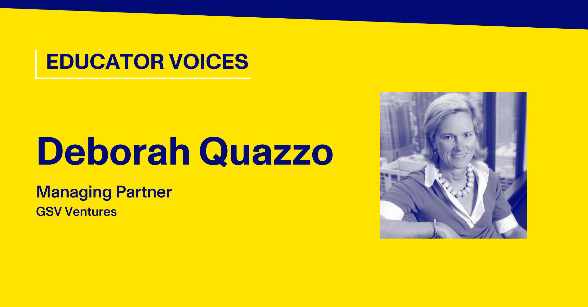 Blog Thumbnail with Headshot of Deborah Quazzo