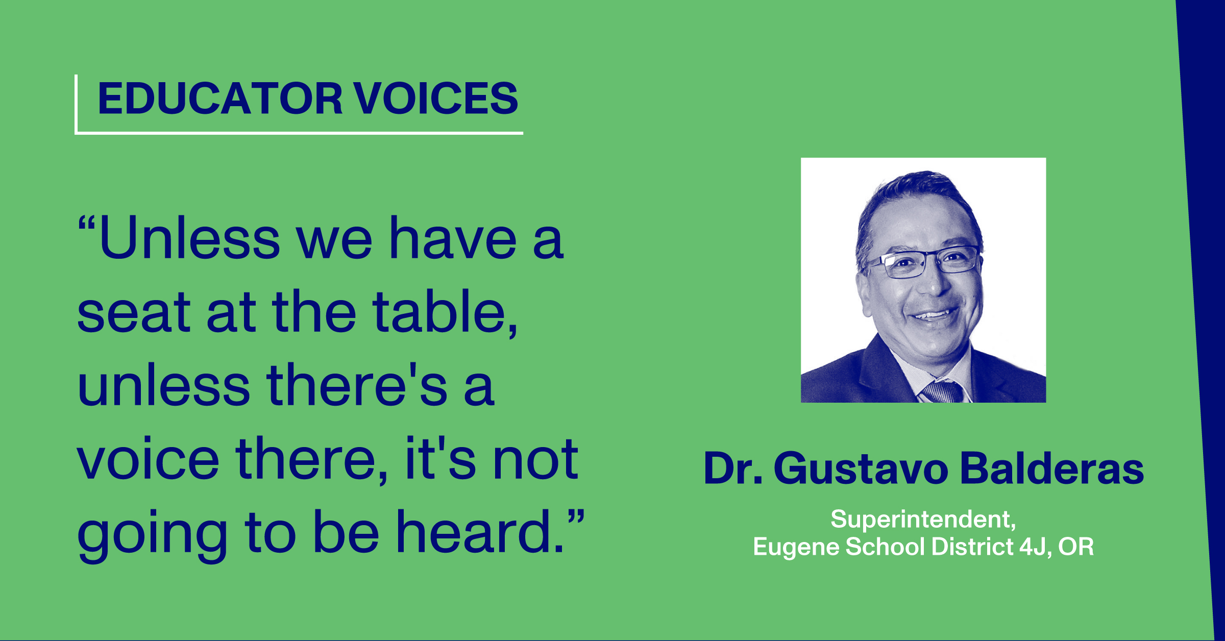 Headshot and Quote by Dr. Gustavo Balderas