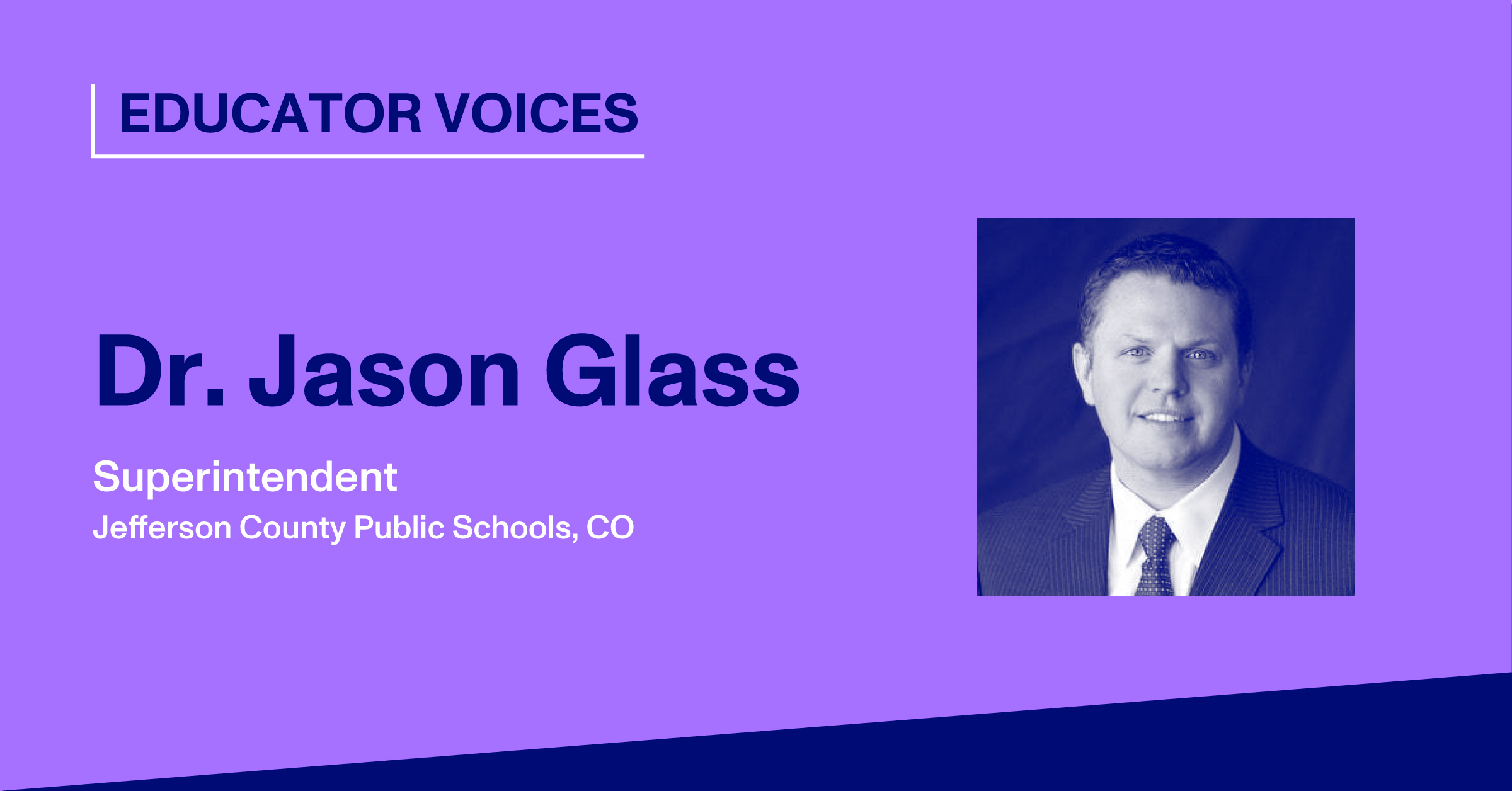 Blog Thumbnail With Headshot of Dr. Jason Glass
