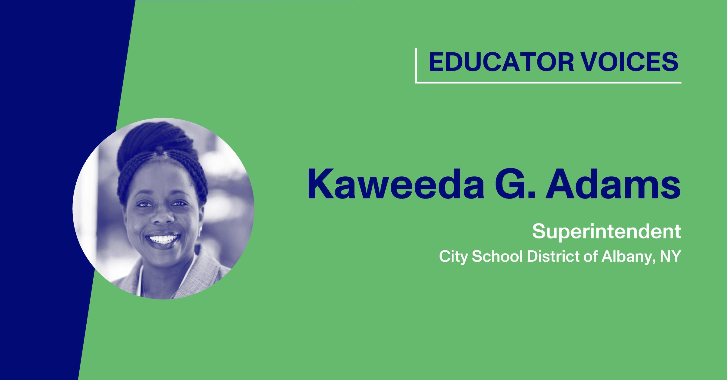 Blog Thumbnail with a headshot of Kaweeda G. Adams
