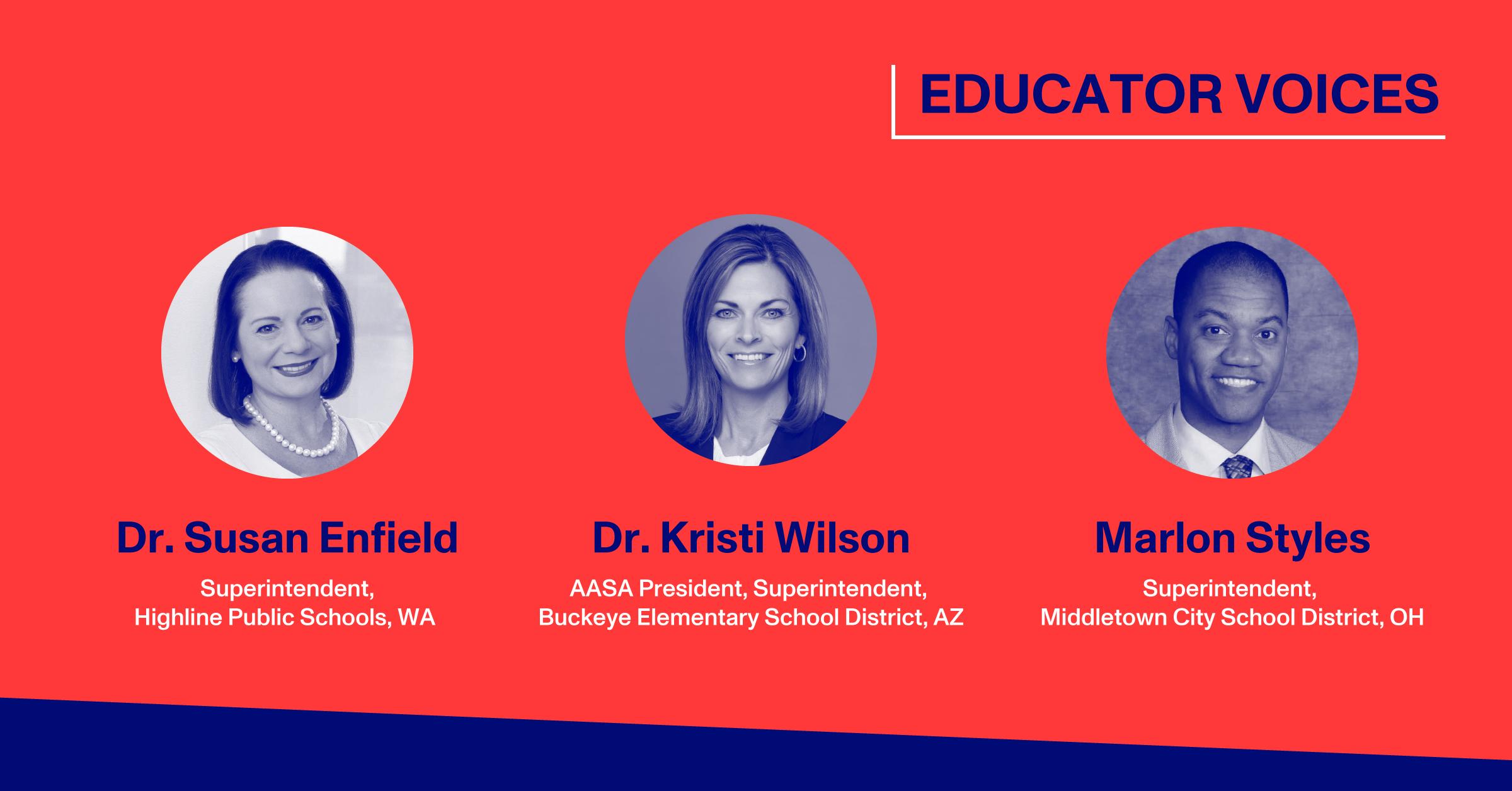 Blog Thumbnail with Headshots of Dr. Susan Enfield, Dr. Kristi Wilson, Marlon Styles