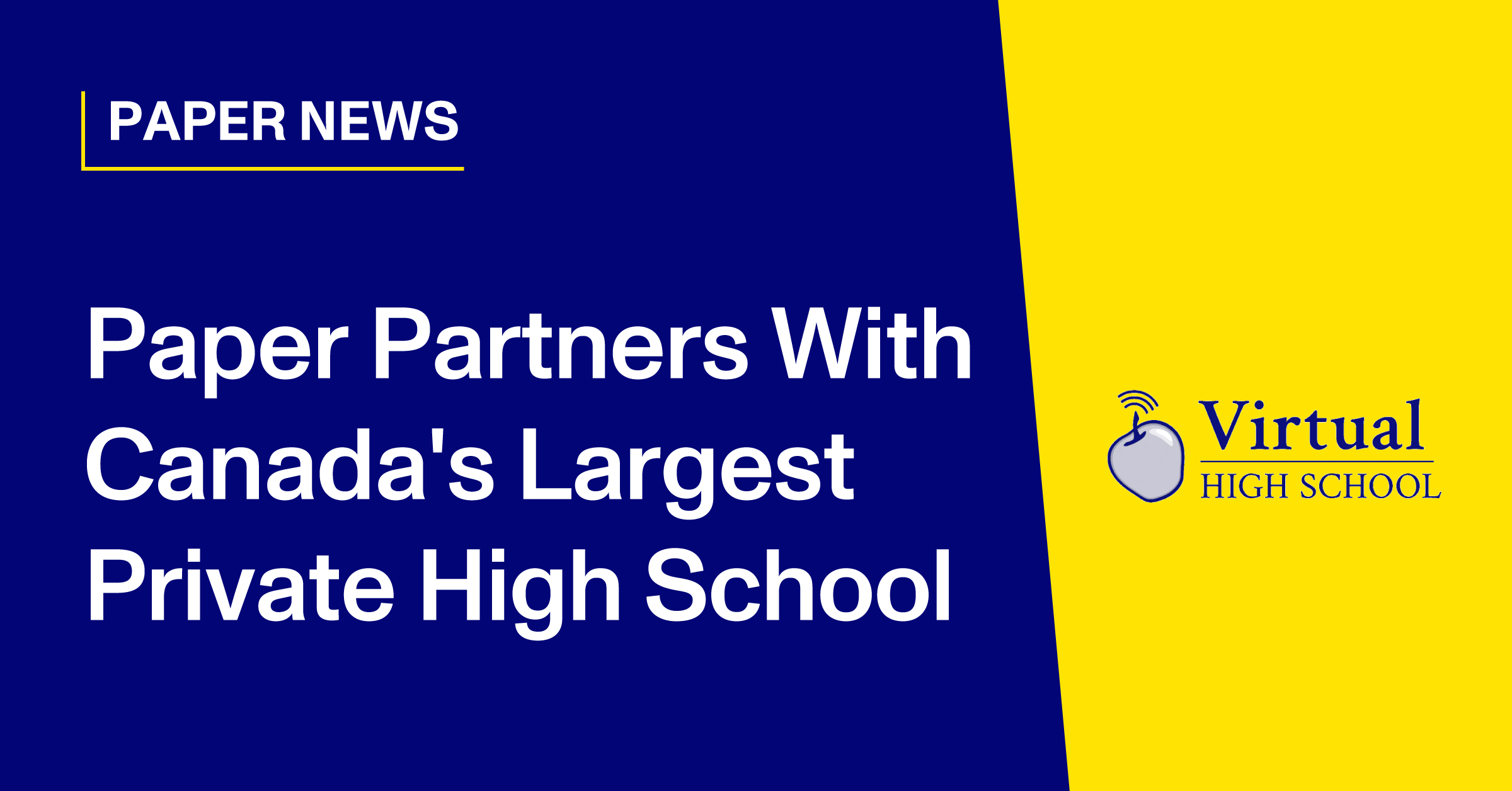Paper Partners With Canada's Largest Private High School