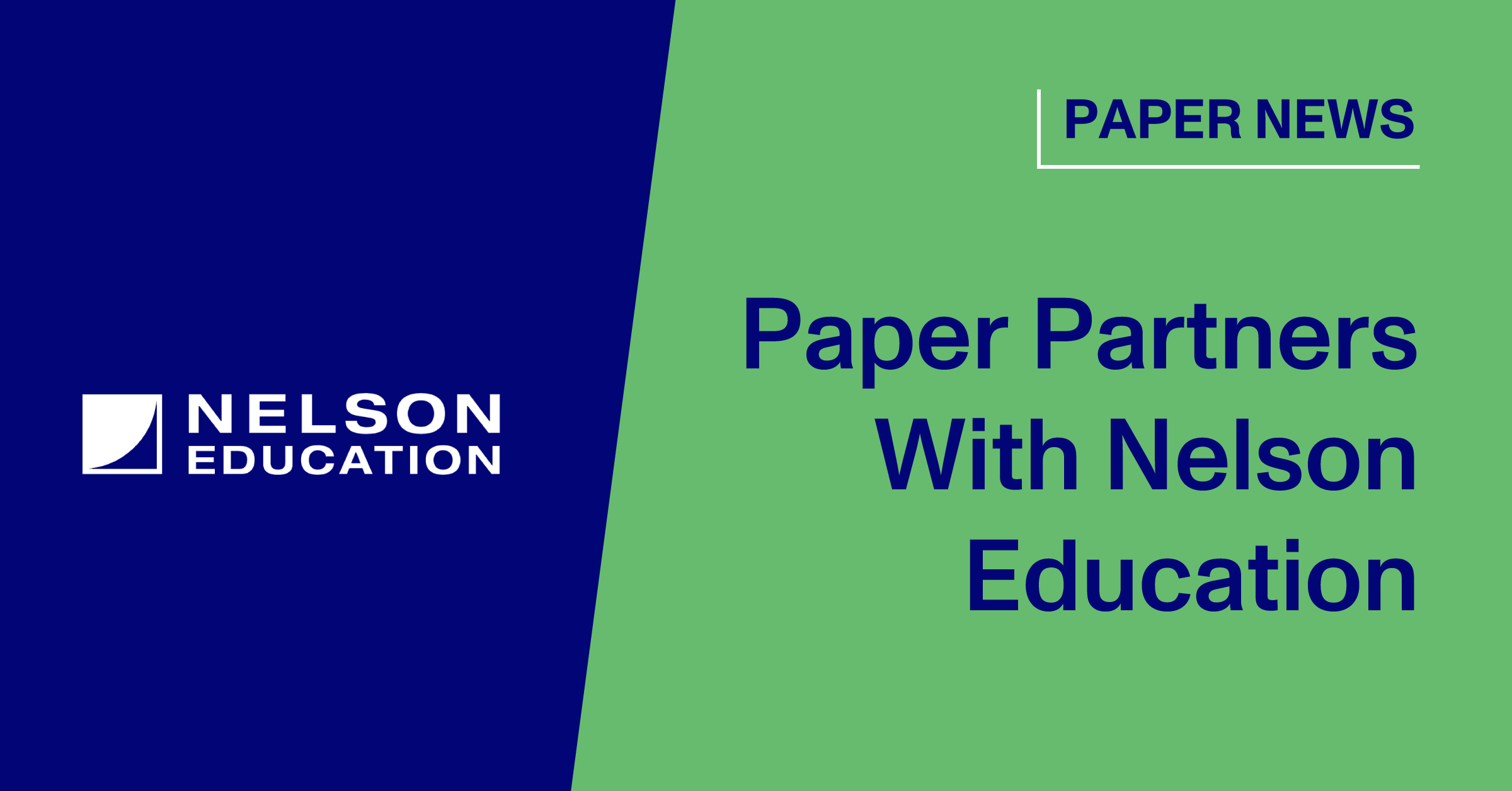 Paper Partners With Nelson Education