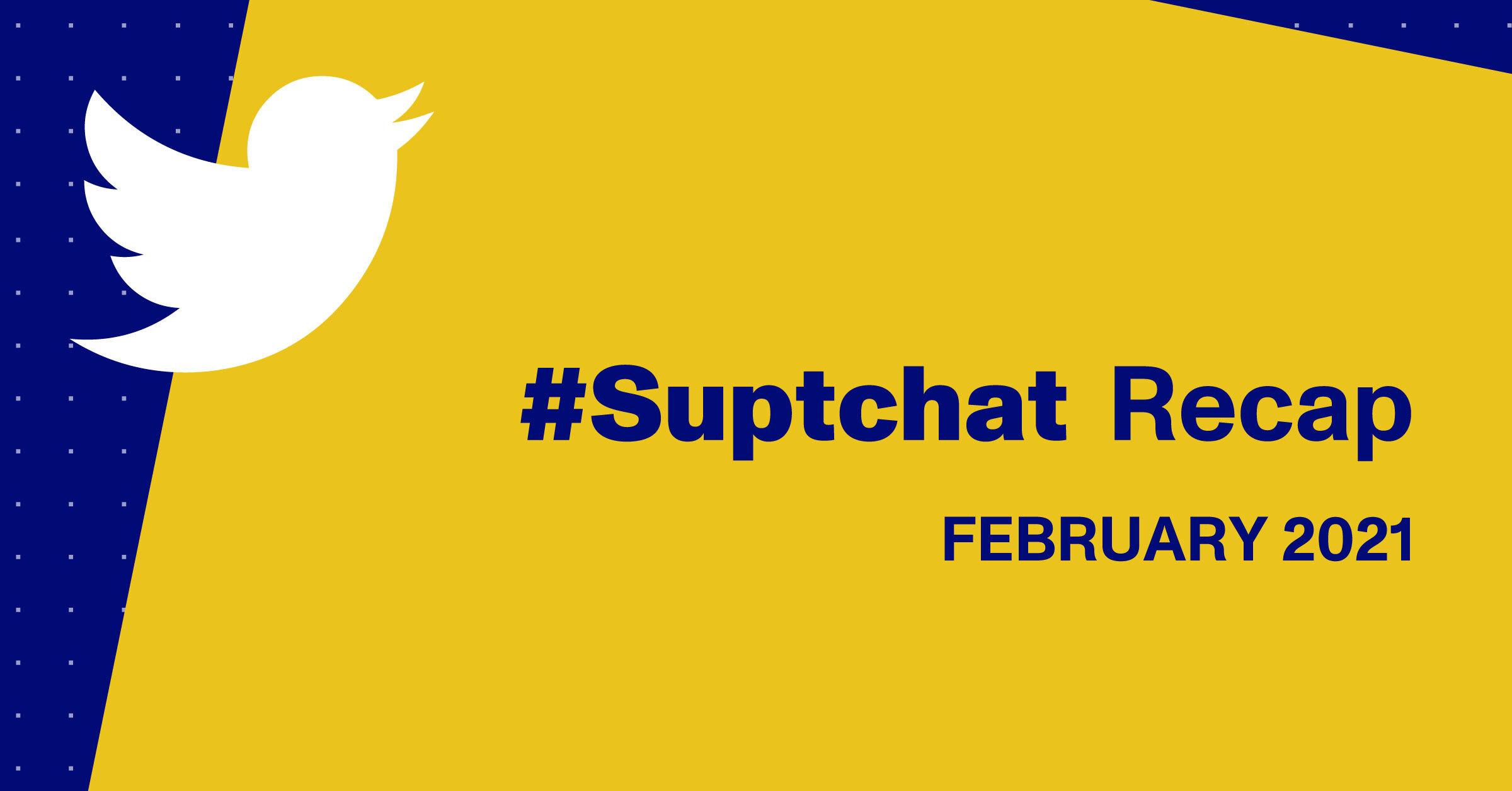 #suptchat recap blog header