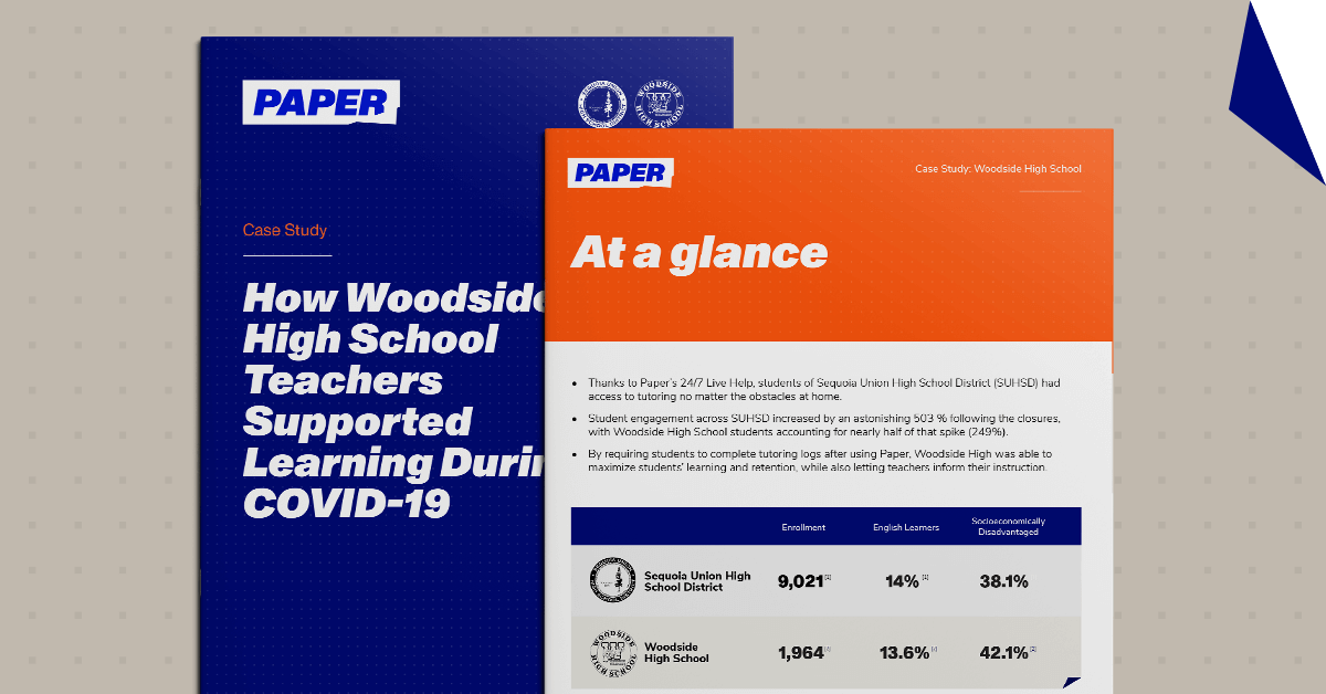 Thumbnail of Case Study Cover and Page - Woodside High School