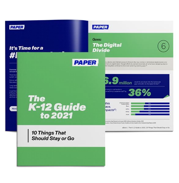 Cover and Spread of Ebook - K-12 Guide to 2021